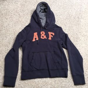 Men's Abercrombie & Fitch embroidered hoodie.
